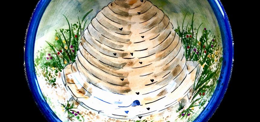 Skep hive dessert bowl