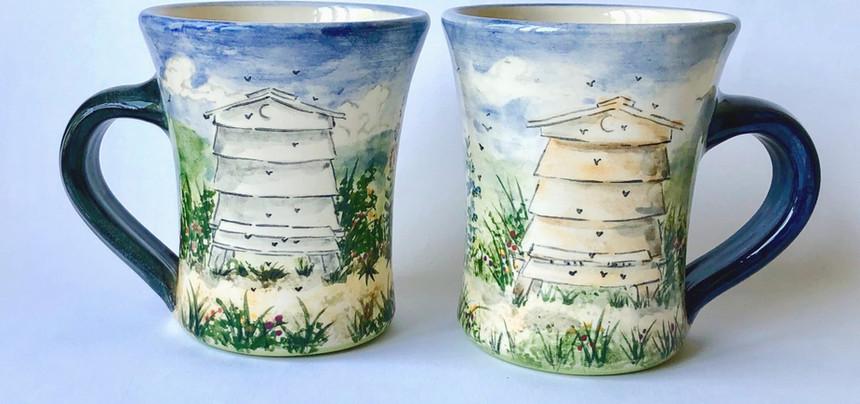 Beehive beaker mugs