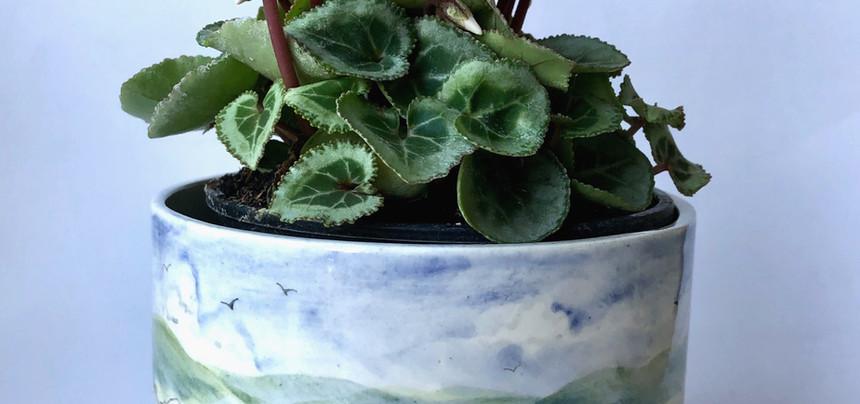 Moorland plant pot holder