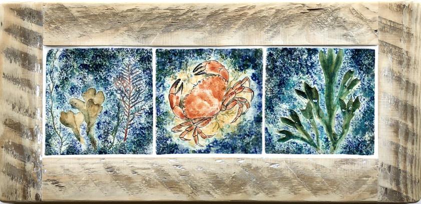 Crab and Seaweed tile panel