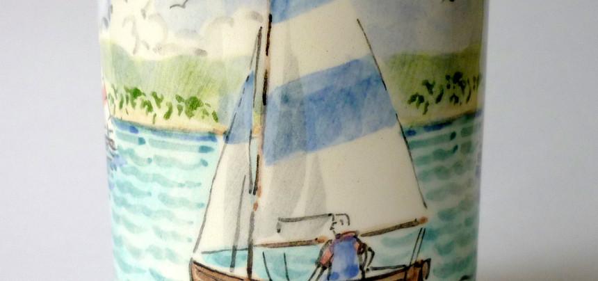 Lake Boats beaker