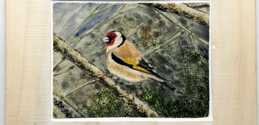 Goldfinch tile