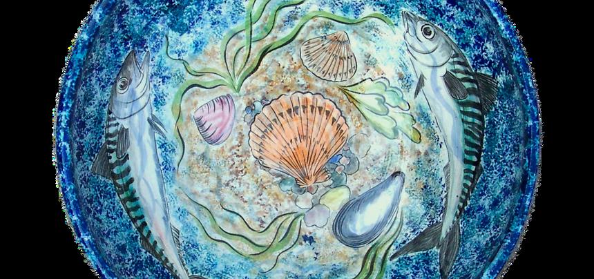 mackerel and shells bowl