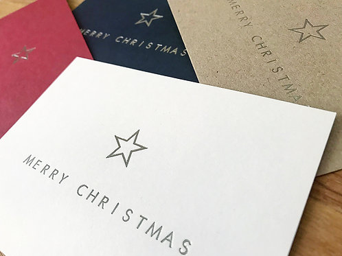 Christmas Star Greetings Card