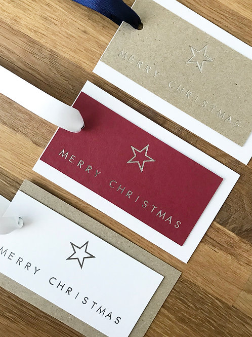 Christmas Star Gift Tags  (Pack of 3)