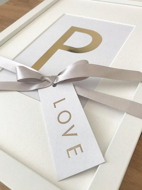 Foil Letter Print