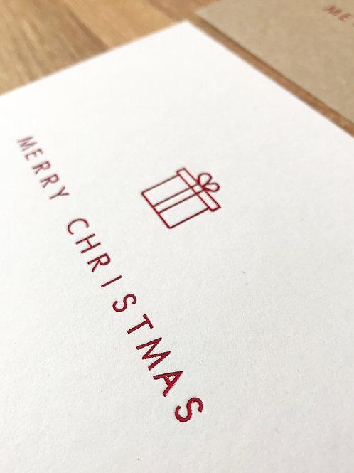 Christmas Present Greetings Card