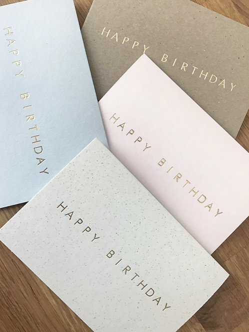 Happy Birthday Cards (Pack of 4)