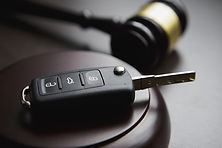 Judges gavel and car key Traffic law.jpg
