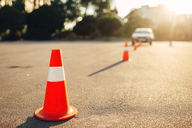 Cones for the examination, driving schoo