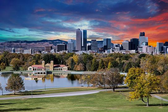 Denver skyline across city park in autumn.jpg