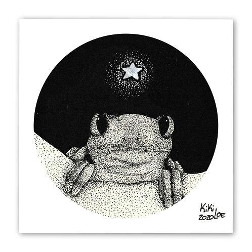"""Singing frog"" illustration by KikiLoe - Kirsten Loewenthal"