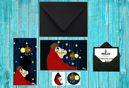 Little red riding hood stationery set, by KikiLoe, The Firefly forest, Kirsten Loewenthal