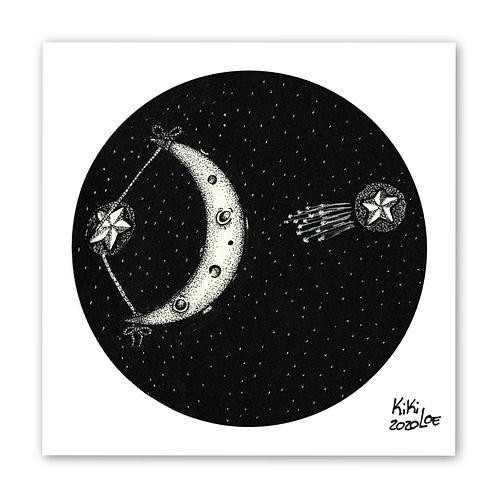 Shooting star, Inktober 2020 #9: Throw by KikiLoe