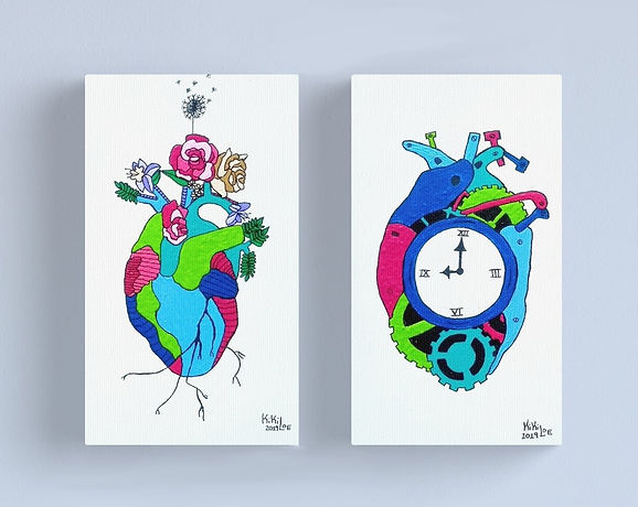 """Beating Heart"" & ""Waiting Heart"" by: KikiLoe"