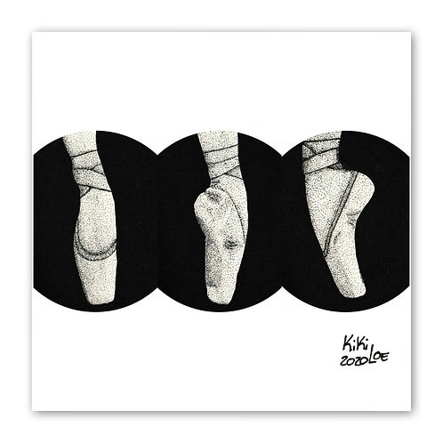 """Ballet Dancer"" by KikiLoe, inktober, art print for sale, buy art online"