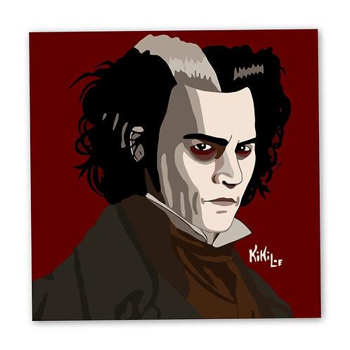 Sweeney Todd illustration by KikiLoe, art prints for sale, Kirsten Loewenthal