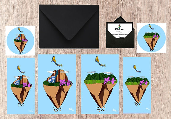 Floatin Venezuela stationery set, by KikiLoe, Salto Angel, El Avila, Kirsten Loewenthal