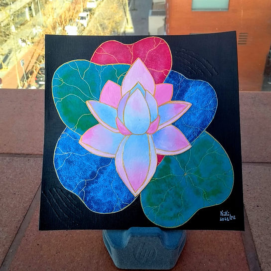 Lotus Flower by KikiLoe Kirsten Loewenthal, paintings for sale