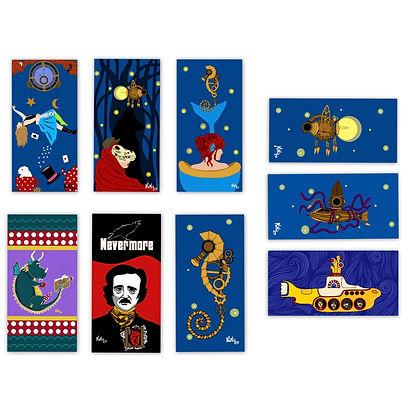Bookmarks marcapaginas by: KikiLoe Kirsten Loewenthal