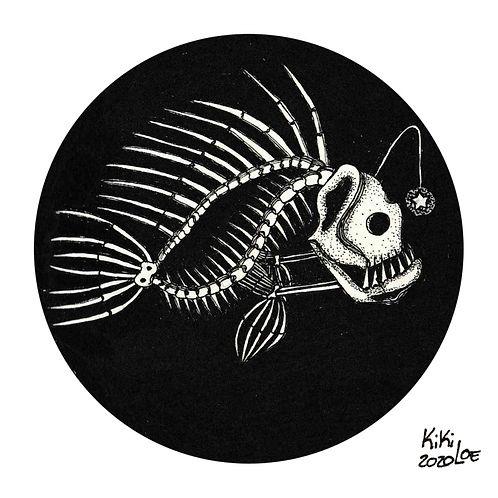 Fishkeleton Pezqueleto by KikiLoe, Inktober 2020 #1: Fish