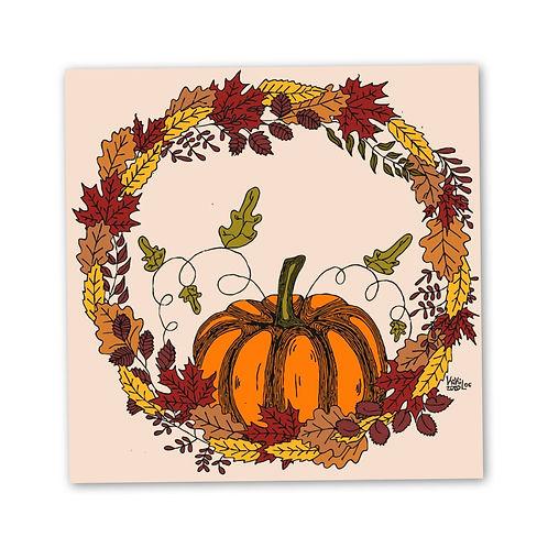 Autumn illustration for sale, art print autumn love by KikiLoe Kirsten Loewenthal