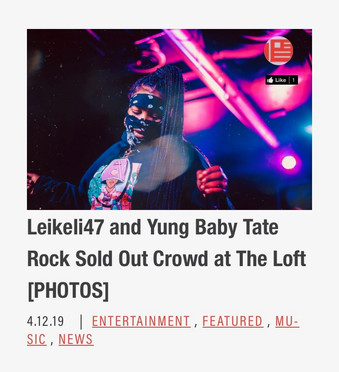 LEIKELI47 AND YUNG BABY TATE ROCK SOLD OUT CROWD AT THE LOFT [PHOTOS]