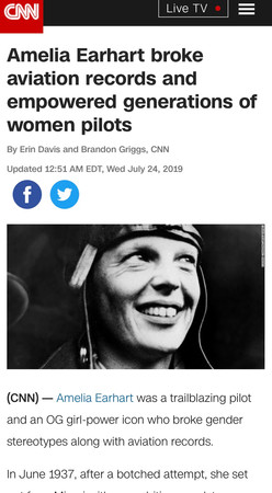 Amelia Earhart broke aviation records and empowered generations of women pilots