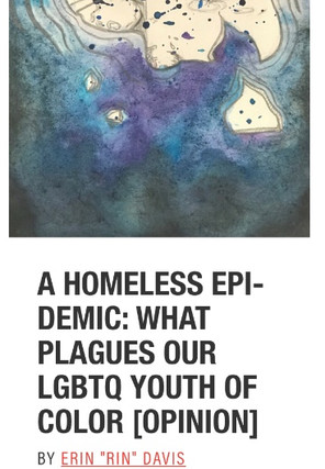 A HOMELESS EPIDEMIC: WHAT PLAGUES OUR LGBTQ YOUTH OF COLOR [OPINION]