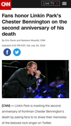 Fans honor Linkin Park's Chester Bennington on the second anniversary of his death