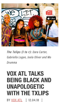 VOX ATL TALKS BEING BLACK AND UNAPOLOGETIC WITH THE TXLIPS