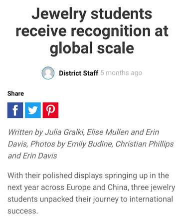 Jewelry students receive recognition at global scale