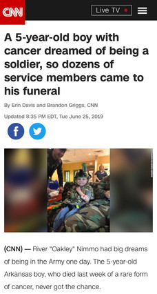 A 5-year-old boy with cancer dreamed of being a soldier, so dozens of service members came to his funeral
