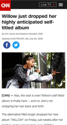 Willow just dropped her highly anticipated self-titled album