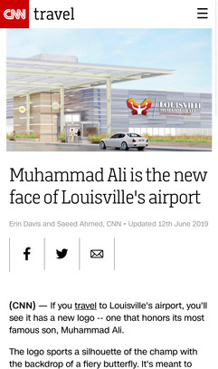 Muhammad Ali is the new face of Louisville's airport