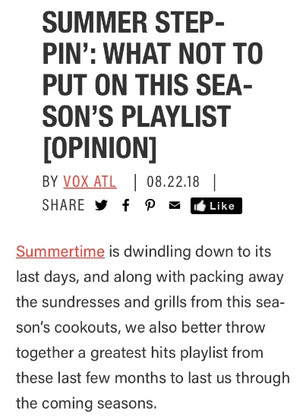 SUMMER STEPPIN': WHAT NOT TO PUT ON THIS SEASON'S PLAYLIST [OPINION]