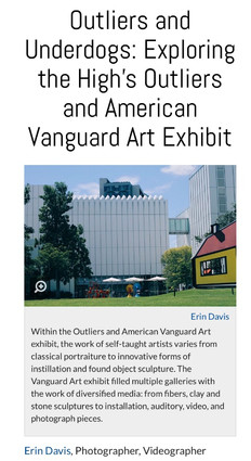 Outliers and Underdogs: Exploring the High's Outliers and American Vanguard Art Exhibit