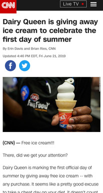 Dairy Queen is giving away ice cream to celebrate the first day of summer