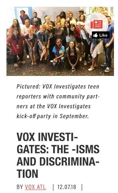 VOX INVESTIGATES: THE -ISMS AND DISCRIMINATION