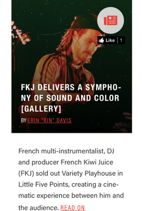 FKJ DELIVERS A SYMPHONY OF SOUND AND COLOR [GALLERY]