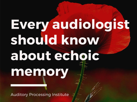 Echoic Memory:  An Important Consideration