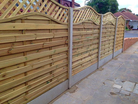 A more contemporary style of fencing.