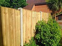 Green Close board fence panels installed in Dartford.
