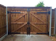 Bespoke double gates.