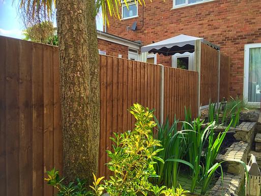 A boundary fence installed in Barnehurst.