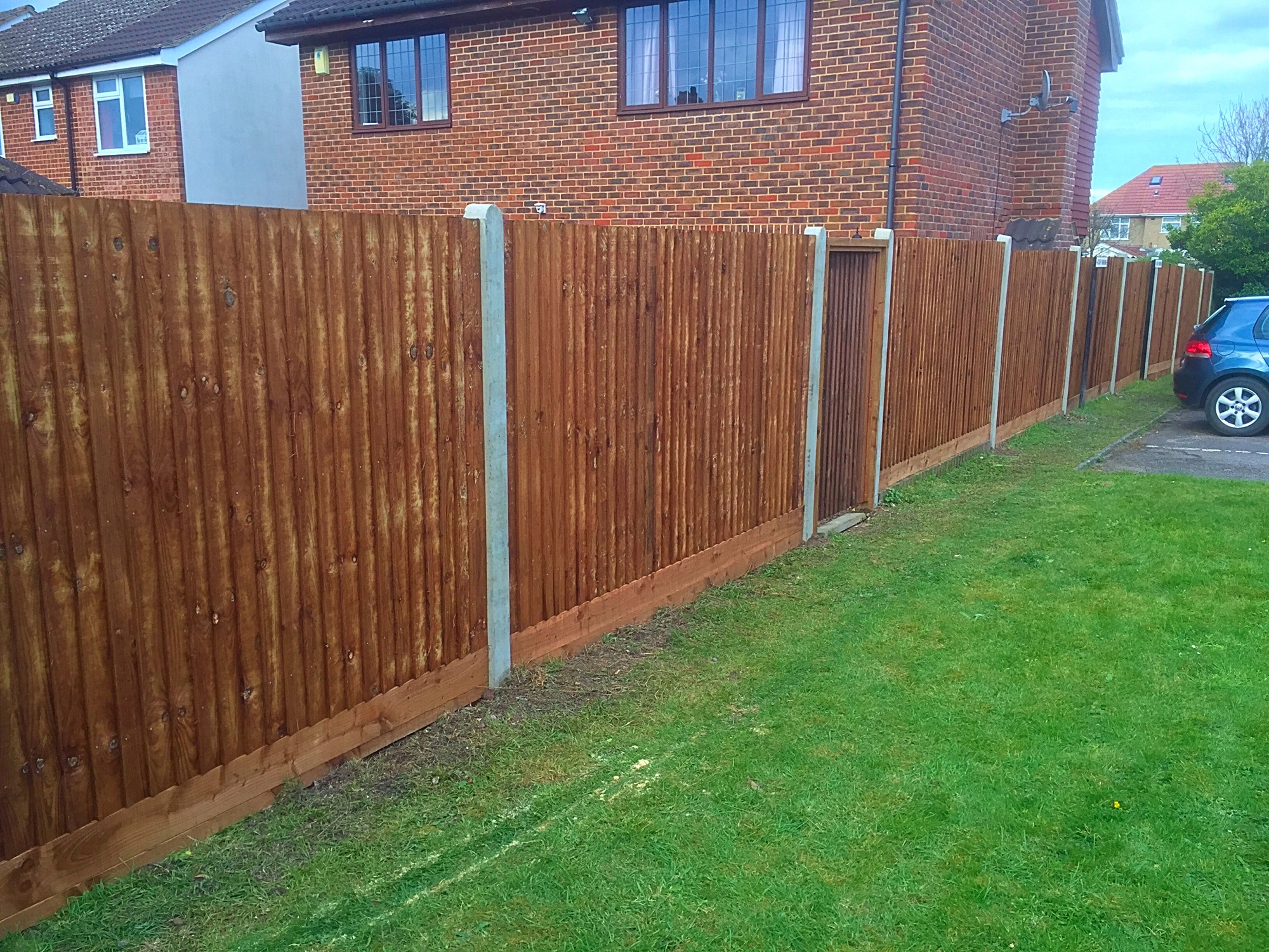 Quality garden fencing in Crayford.
