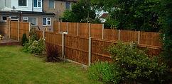 Garden fencing in Blackfen.