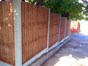 Fence with concrete gravel boards in Sidcup.