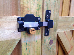Key lock for a gate.