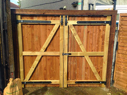 Some bespoke gates fitted in Erith.